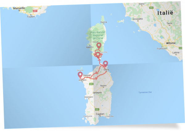 Combinatiereis Sardinië & Corsica